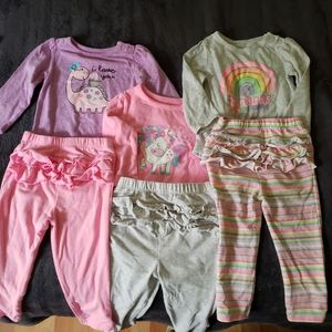 Bundle Girls Mix and Match Outfits Size 18 months